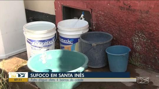 Falta d'água continua a afetar bairros em Santa Inês