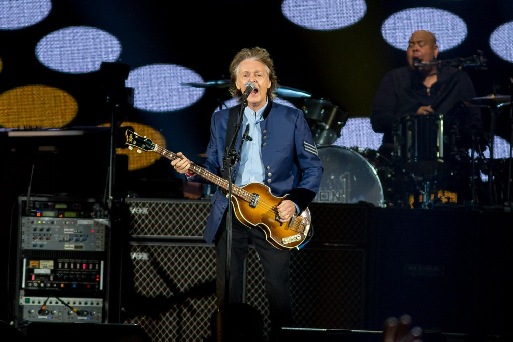 Paul McCartney em São Paulo (Foto: Marcelo Brandt / G1)