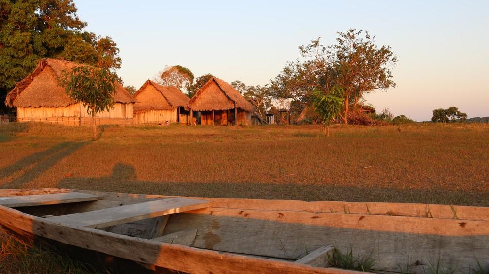 Na escola da aldeia são ministradas aulas para alunos do 1 ao 9 ano (Foto: Maíra Bittencourt/ Arquivo Pessoal )