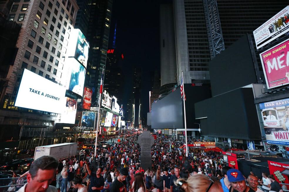 Imagem da Times Square, em Nova York, em julho de 2019 — Foto: Michael Owens/AP