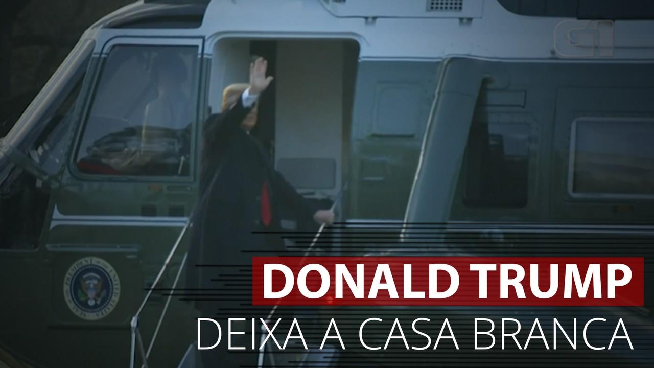 VÍDEO: Veja a saída de Donald Trump da Casa Branca