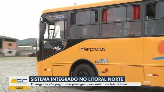 Transporte coletivo passa a operar integrado em 3 cidades do Litoral Norte de SC