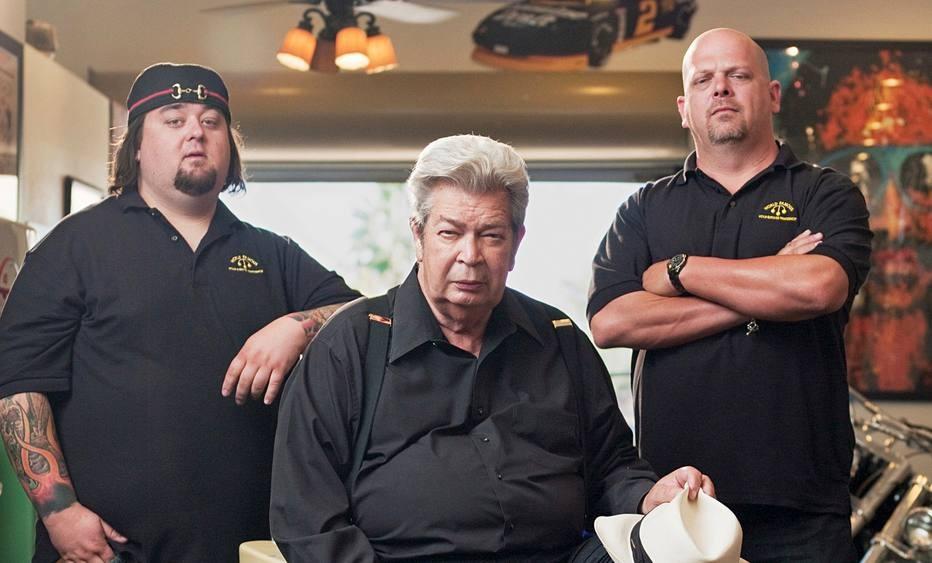 Chumlee, Richard e Rick Harris (Foto: divulgação)
