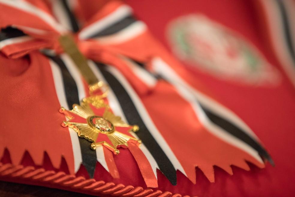 Medalha da Ordem do Ipiranga é a mais elevada honraria do estado de SP — Foto: Governo do Estado de São Paulo