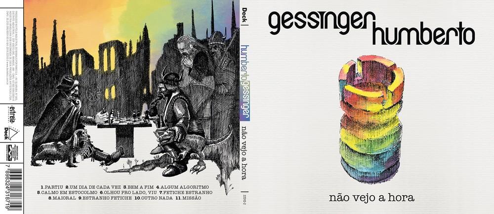 Capa e contracapa do álbum 'Não vejo a hora', de Humberto Gessinger — Foto: Ilustrações de Felipe Constant