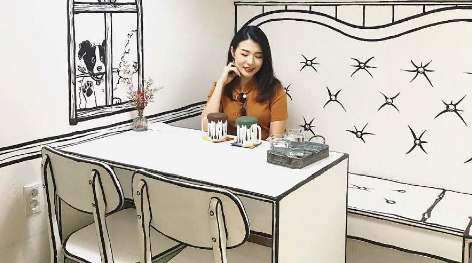 O The Unusual Café, na Coréia do Sul, é um fenômeno no Instagram (Foto: Divulgação)