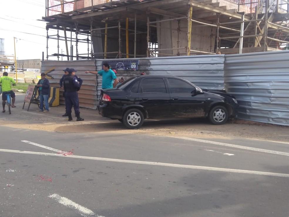 Dois veículos colidem na BR-316, na Zona Sul de Teresina — Foto: Nayara Nadja/TV Clube