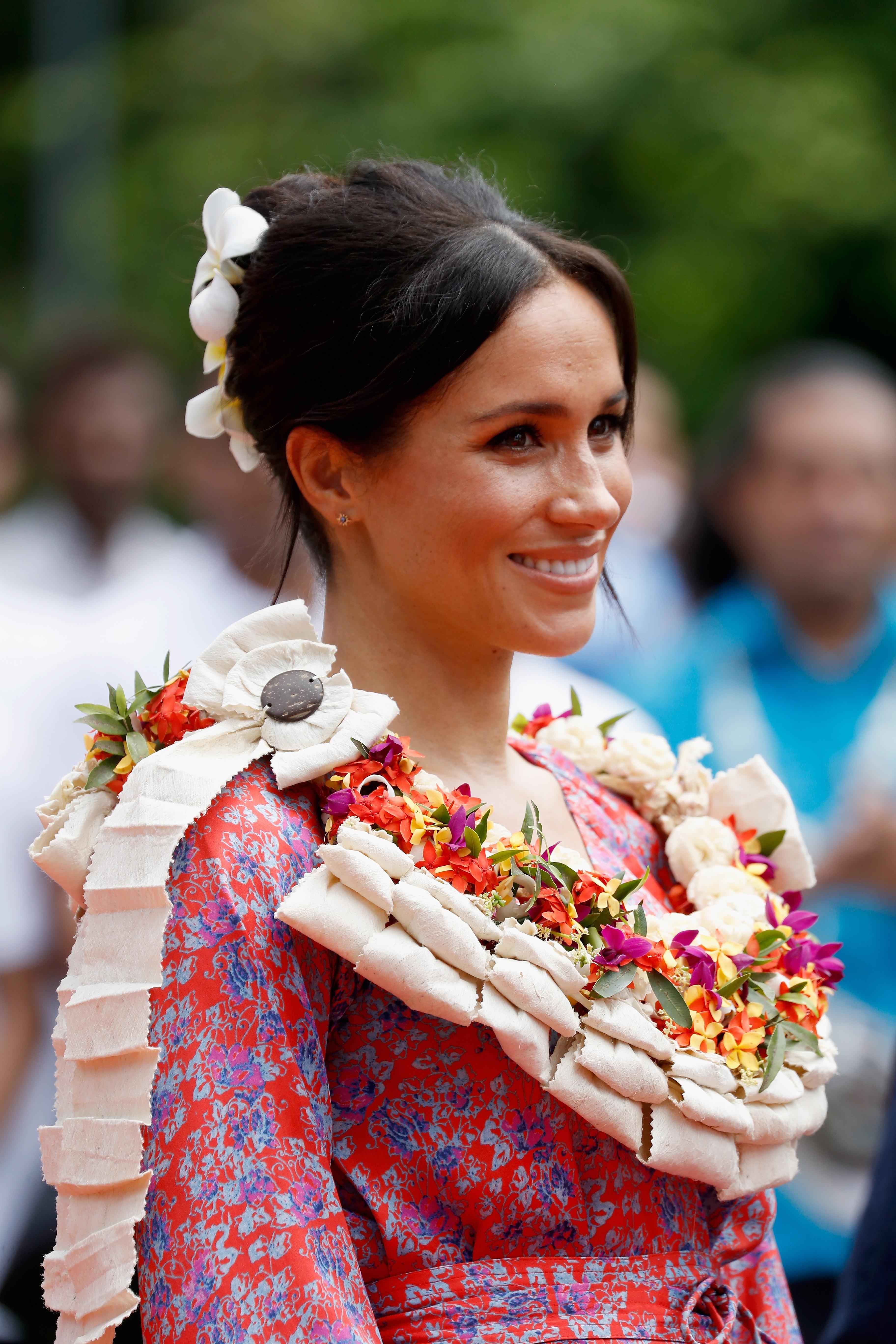 Meghan com coque desconexo (Foto: Getty Images )