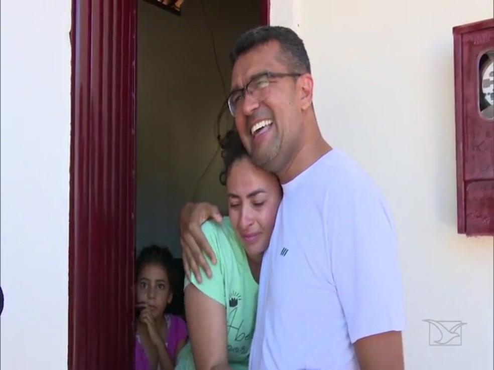 Lahésio Rodrigues Bonfim foi reeleito em São Pedro dos Crentes com um total de 90,11% dos votos válidos — Foto: Reprodução/TV Mirante