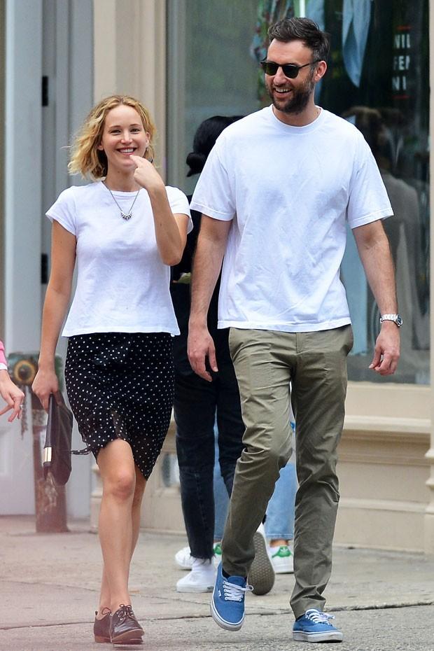 Jennifer Lawrence e Cooke Maroney  (Foto: The Grosby Group)