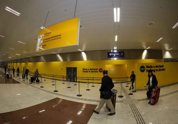 Alfândega do aeroporto internacional de Guarulhos (GRU) (Foto: Divulgação)