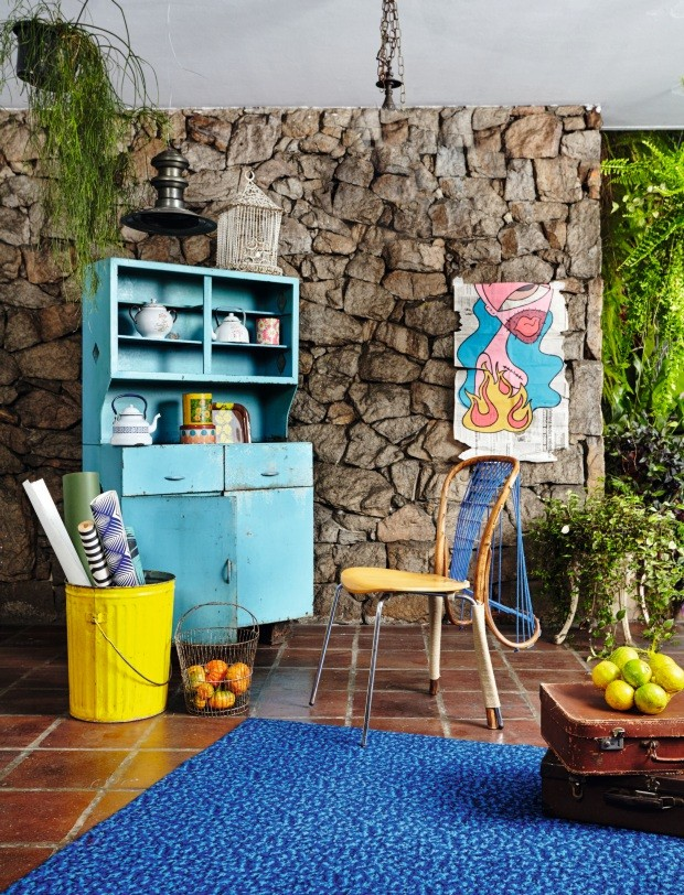 Peças reutilizadas e recicladas podem ser cool para a decoração da casa (Foto: Ilana Bessler)