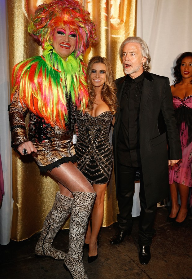 Olivia Jones, Carmen Electra e Hermann Buehlbecker (Foto: Getty Images)