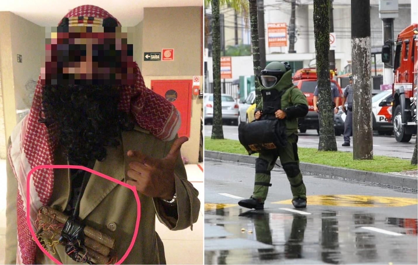 Falso 'terrorista' que mobilizou esquadrão antibombas se apresenta à polícia - Noticias