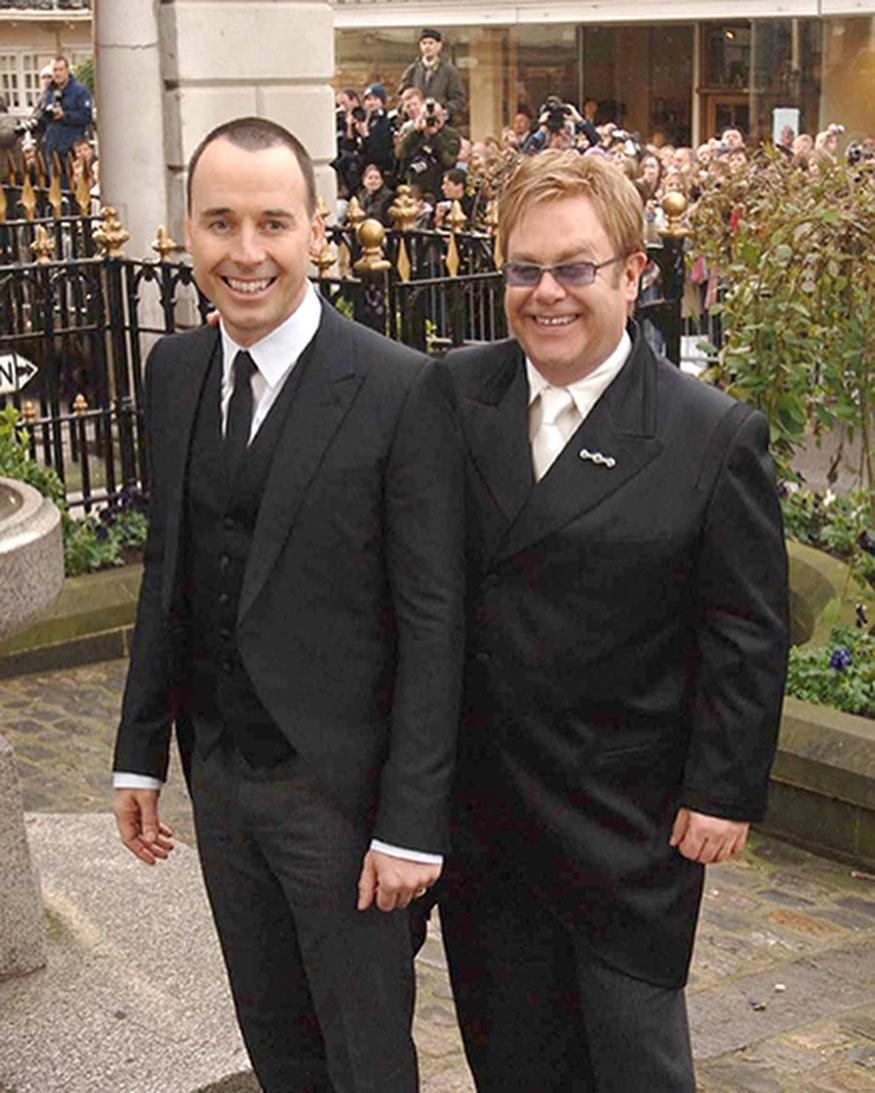 David Furnish e Elton John (Foto: Instagram)