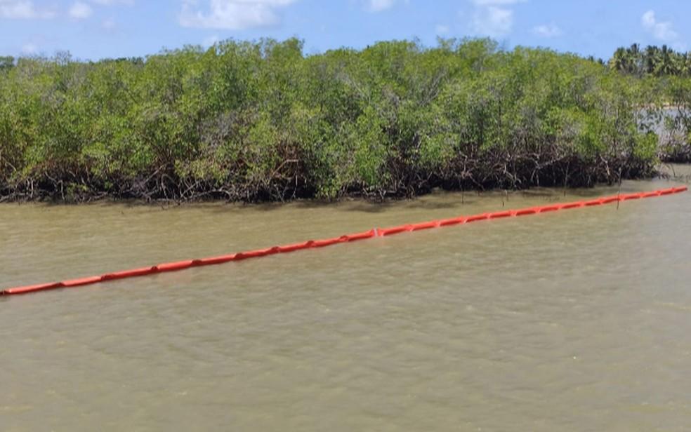 Barreiras foram colocadas no Rio Sergipe  — Foto: ASN/Celse/Arquivo