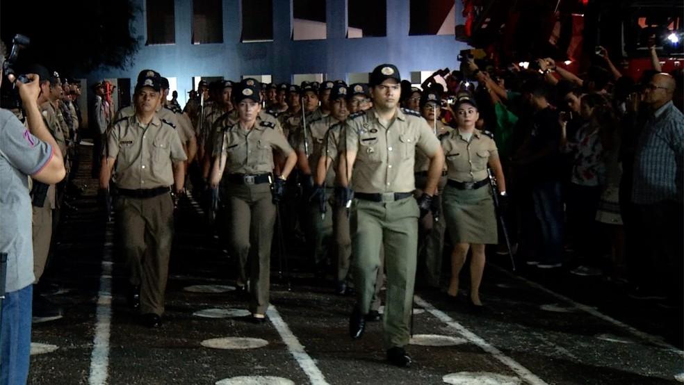 Militares do Tocantins receberam promoções — Foto: Reprodução/TV Anhanguera
