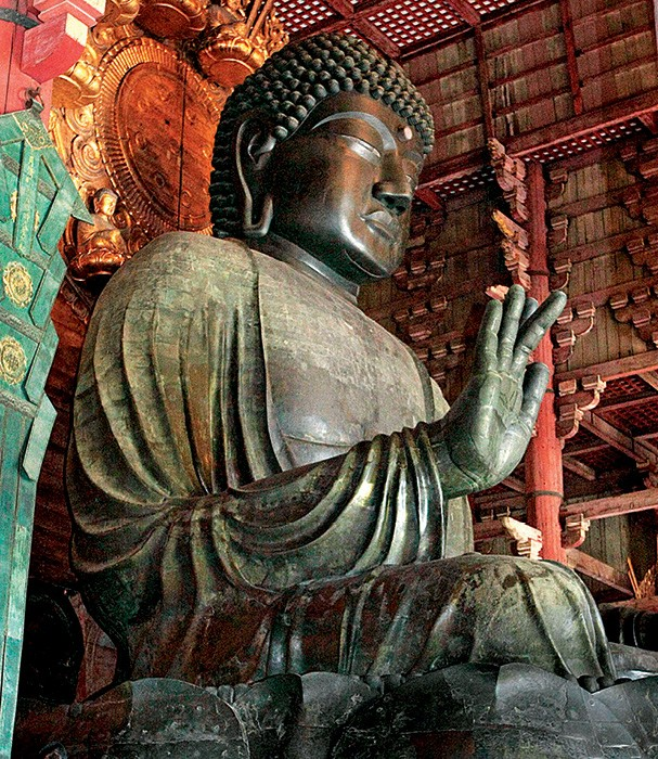 O buda gigante do templo de Todai-ji impressiona (Foto: Getty Images)