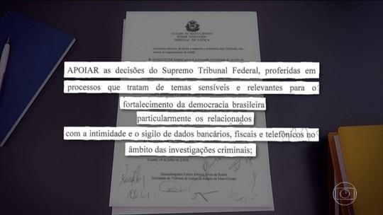Presidentes de TJs dão apoio a decisões do STF sobre sigilo bancários e fiscais