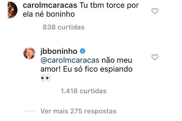 Boninho responde a seguidora (Foto: Reprodução)