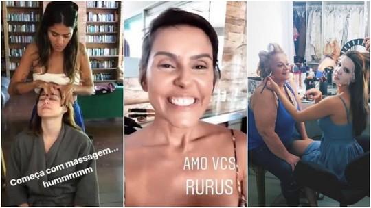 Famosas se arrumam para o 'Troféu Domingão - Melhores do Ano 2018'