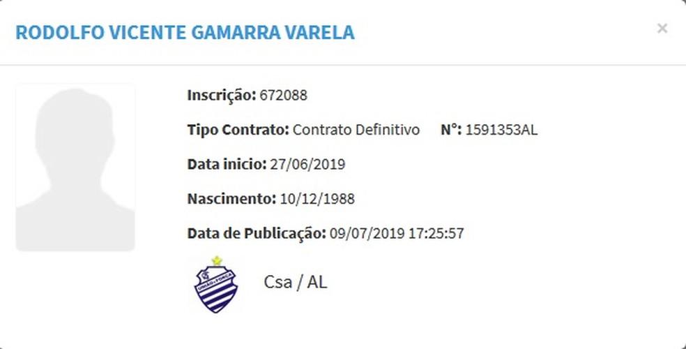 Rodolfo Gamarra também fica à disposição do treinador — Foto: Divulgação/CBF