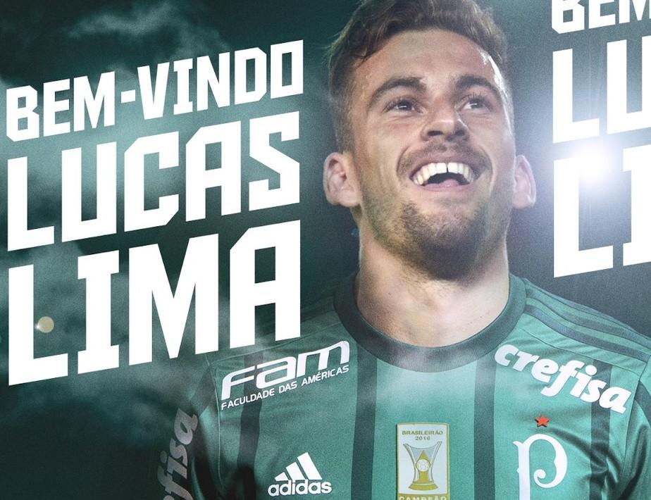 Palmeiras anuncia Lucas Lima