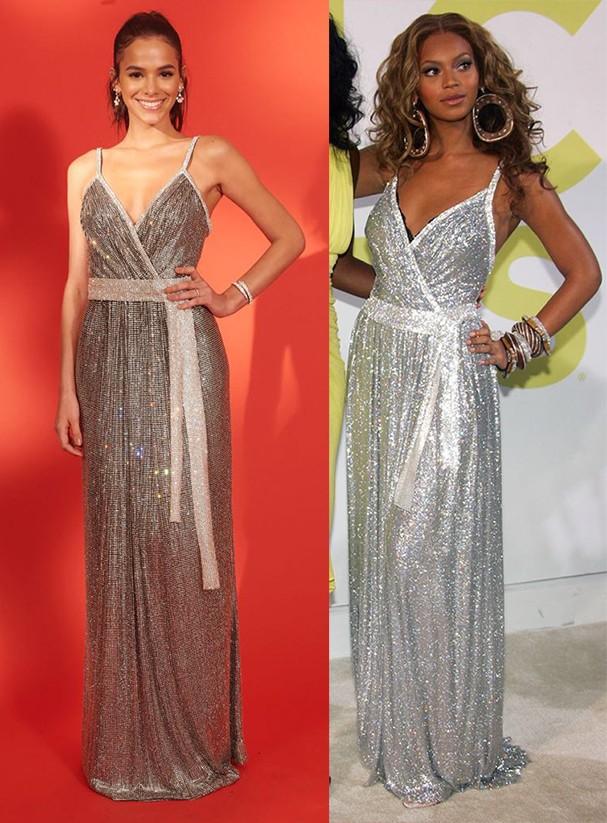 Bruna Marquezine e Beyoncé (Foto: Bravin e Getty Images)