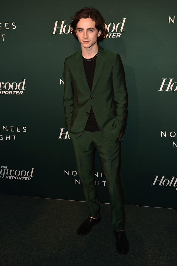 BEVERLY HILLS, CA - FEBRUARY 05:  Timothee Chalamet attends the Hollywood Reporter's 6th Annual Nominees Night at CUT on February 5, 2018 in Beverly Hills, California.  (Photo by Alberto E. Rodriguez/Getty Images) (Foto: Getty Images)