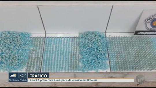 Casal é preso com 4 mil cápsulas de cocaína após perseguição policial em Batatais, SP
