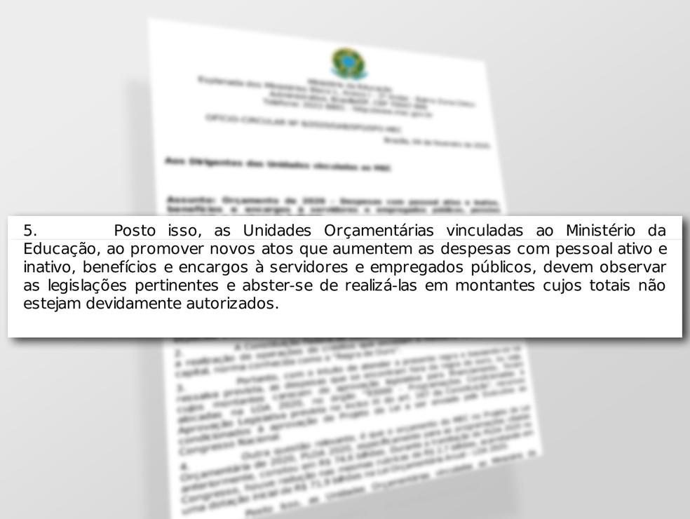 Ofício do MEC veda contratação de novos professores  — Foto: Reprodução/G1