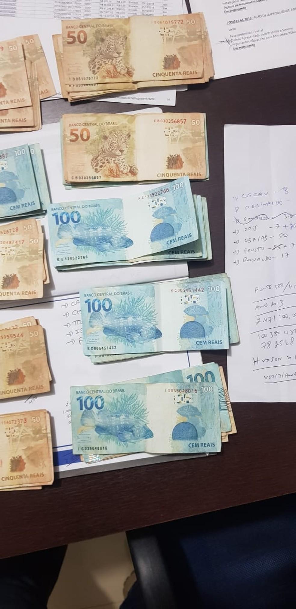 Dinheiro apreendido na Operação Reciclagem em Rondônia — Foto: PF/Divulgação