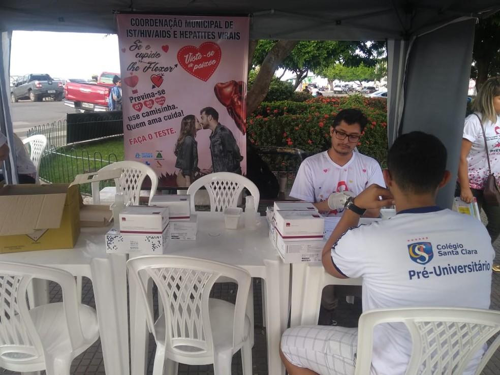 -  CTA realiza campanha em alusão ao dia dos namorados em Santarém  Foto: Bruna Jaqueline Nobre/G1