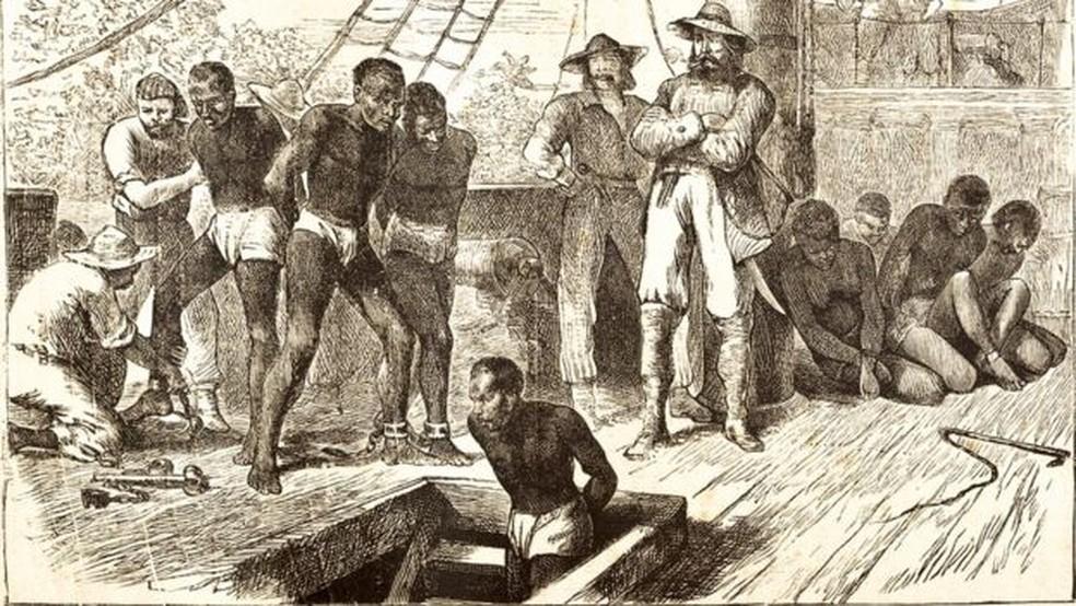 O tráfico de pessoas da África para as Américas durou mais de três séculos — Foto: Getty Images