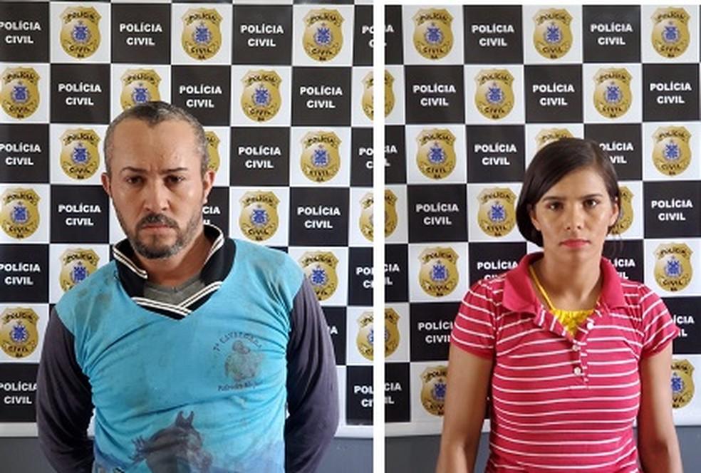 Pai e madrasta são presos suspeitos de agredir criança de 11 anos no oeste da Bahia — Foto: Divulgação/PC