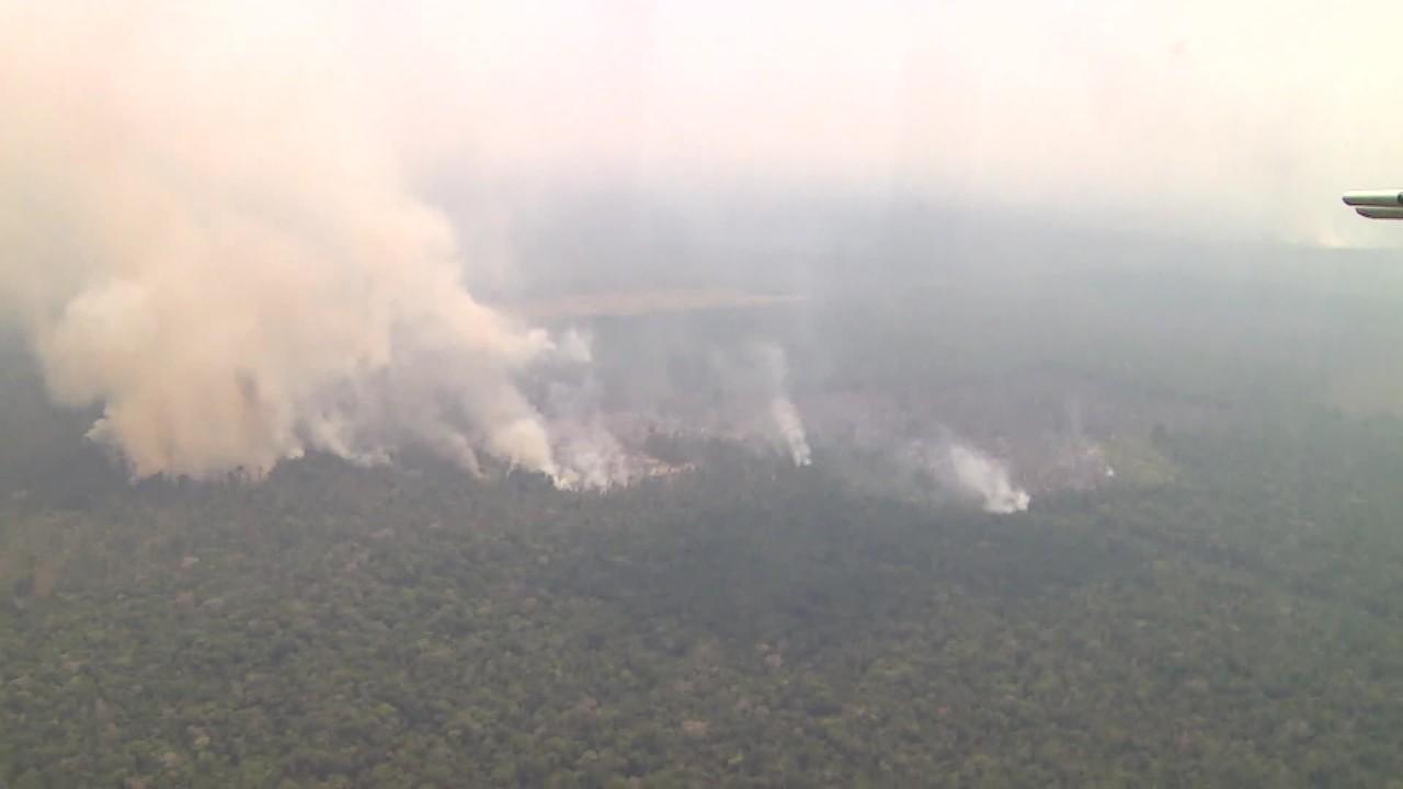 Três cidades do Amazonas registram maior número de focos de incêndio em agosto no país