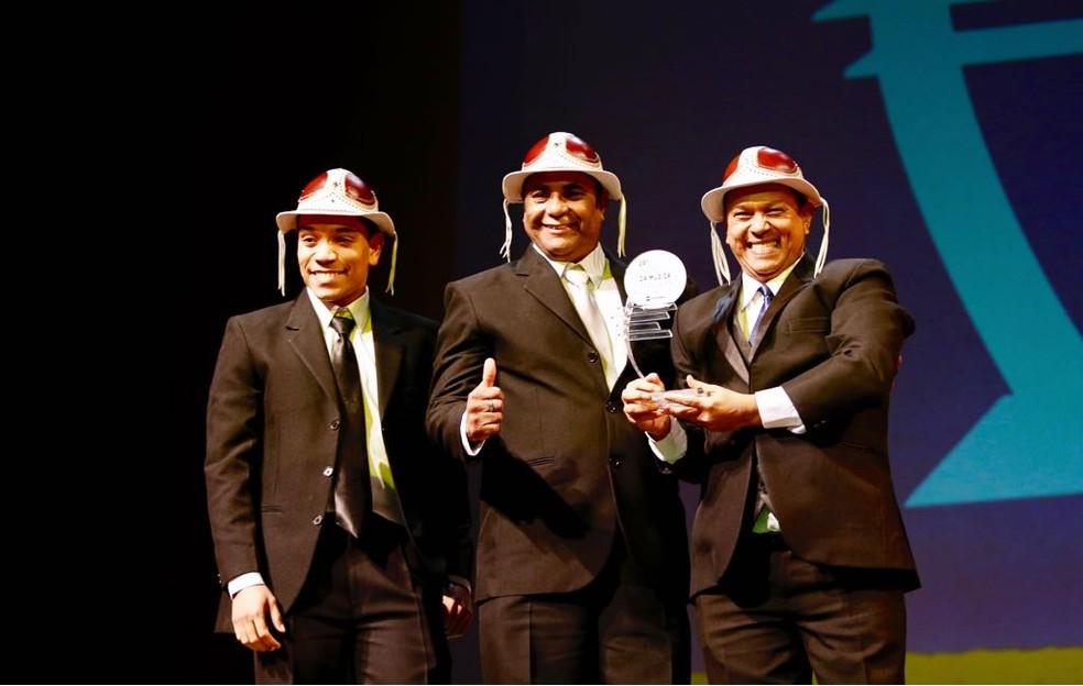Trio Nordestino venceu na categoria Grupo Regional (Foto: Marcos Serra Lima/G1)