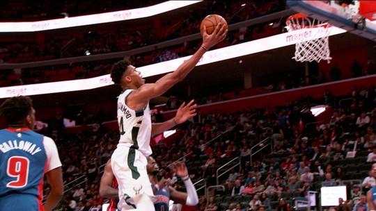 Antetokounmpo brilha, e Bucks tiram os Pistons dos playoffs da NBA com 4 a 0 na série