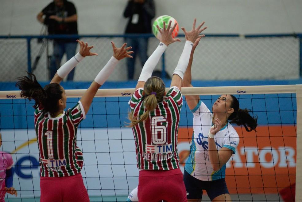Sesc/Rio vence o Fluminense na final do Carioca de vôlei feminino (Foto: Erbs Jr./Sesc/Rio)