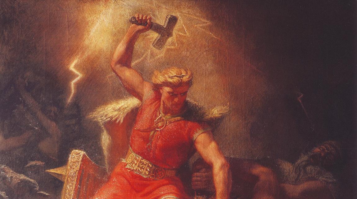 Pintura representa o deus nórdico Thor (Foto: Reprodução/Wikimedia Commons)
