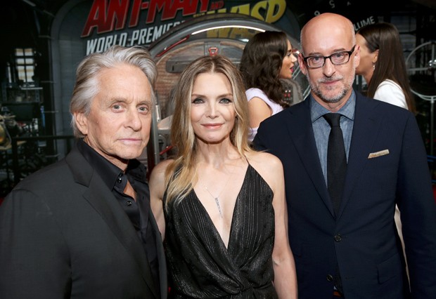 Michael Douglas, Michelle Pfeiffer e Peyton Reed (Foto: Getty Images)