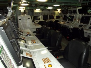 Centro de Operações de Combate da Fragata Liberal (Foto: Jocaff Souza/G1)