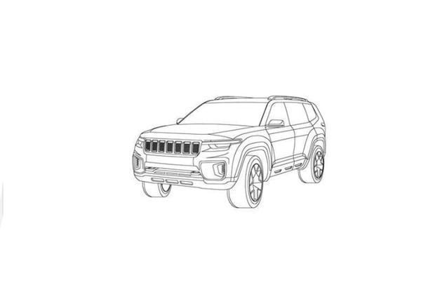 Jeep Grand Commander apareceu em sua versão conceitual (Foto: Reprodução)