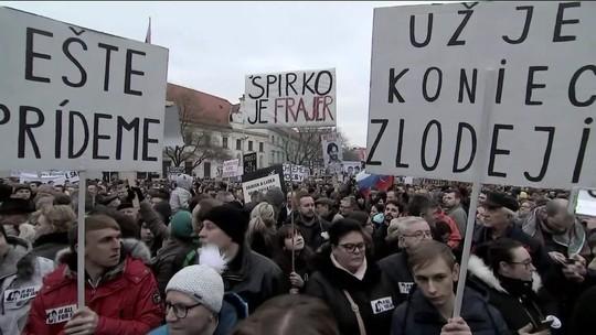 Morte de jornalista gera comoção na Eslováquia