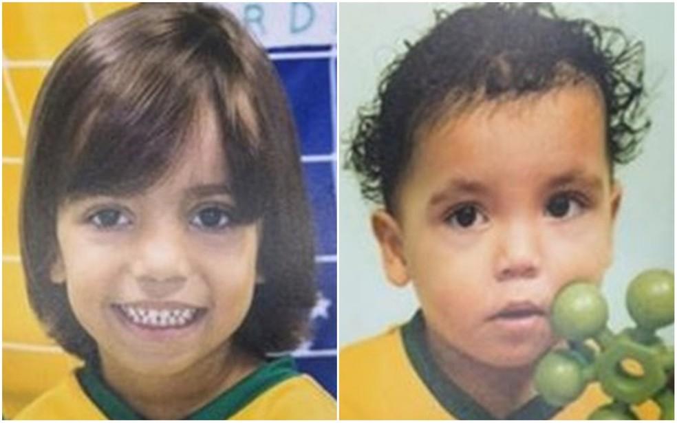 Gustavo Santos, de 3 anos, e Bernardo Alves, de 1 ano, foram encontrados mortos em Boituva — Foto: Arquivo Pessoal