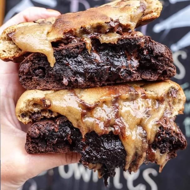 Sanduíche de cookie  (Foto: Reprodução/Instagram)