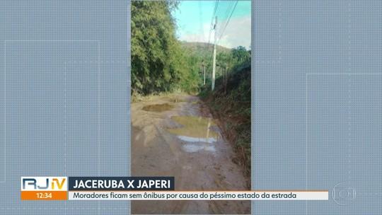 Moradores de Jaceruba estão sem ônibus para Japeri