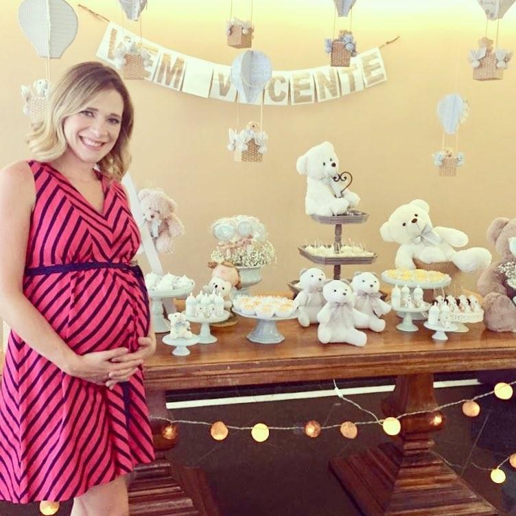 Natália Ariede no chá-de-bebê de Arthur (Foto: Reprodução Instagram)