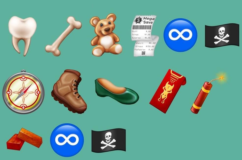 Até mesmo uma bandeira pirata vai aparecer entre os emojis (Foto: Reprodução/Emojipedia)
