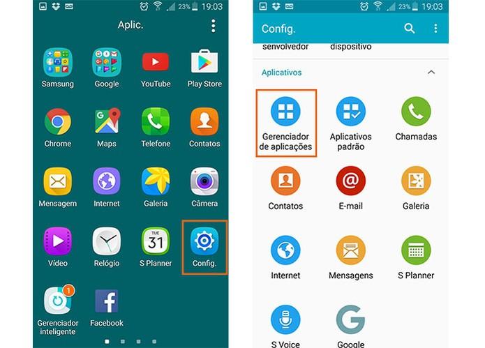 Acesse as configurações de aplicativos do Android (Foto: Reprodução/Barbara Mannara) (Foto: Acesse as configurações de aplicativos do Android (Foto: Reprodução/Barbara Mannara))